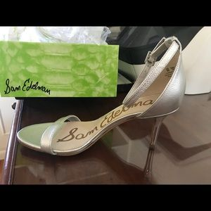 Sam Edelman silver heel sandal shoes